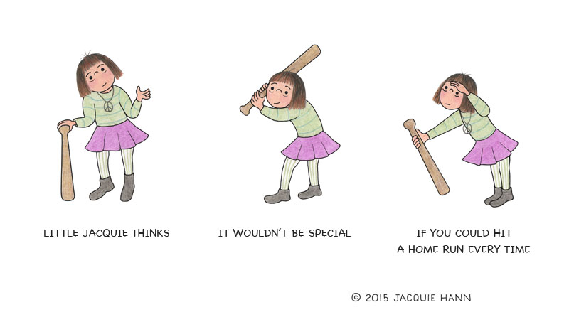 Little Jacquie on Home Runs by Jacquie Hann
