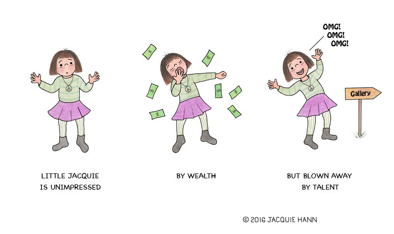 Little Jacquie on Wealth vs Talent by Jacquie Hann