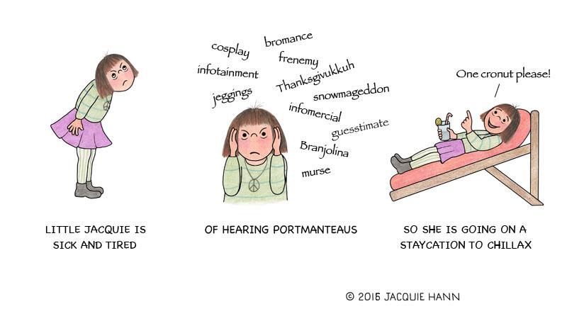 Little Jacquie on Portmanteaus by Jacquie Hann