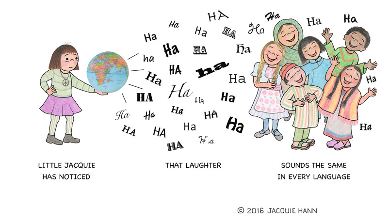 Little Jacquie on Laughter by Jacquie Hann