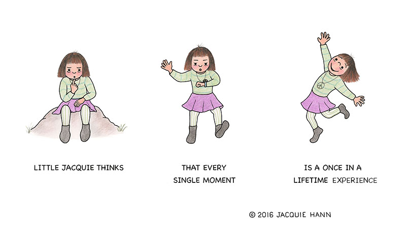 Little Jacquie on Moments by Jacquie Hann