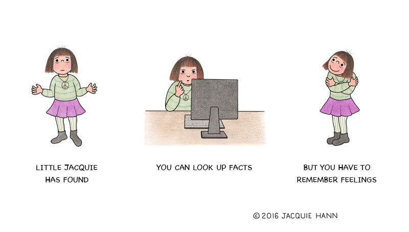 Little Jacquie on Facts vs Feelings by Jacquie Hann