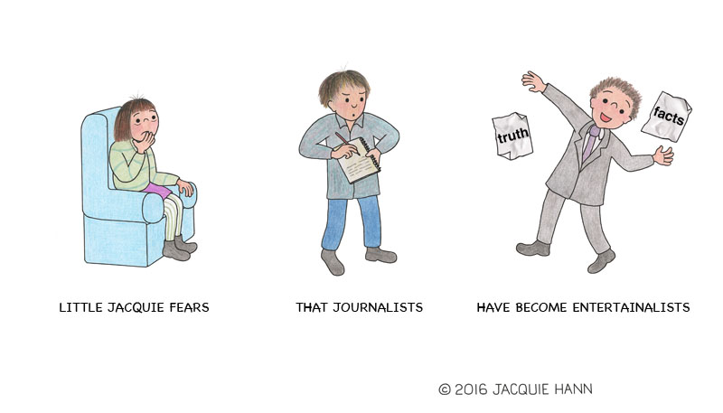 Little Jacquie on Journalists by Jacquie Hann