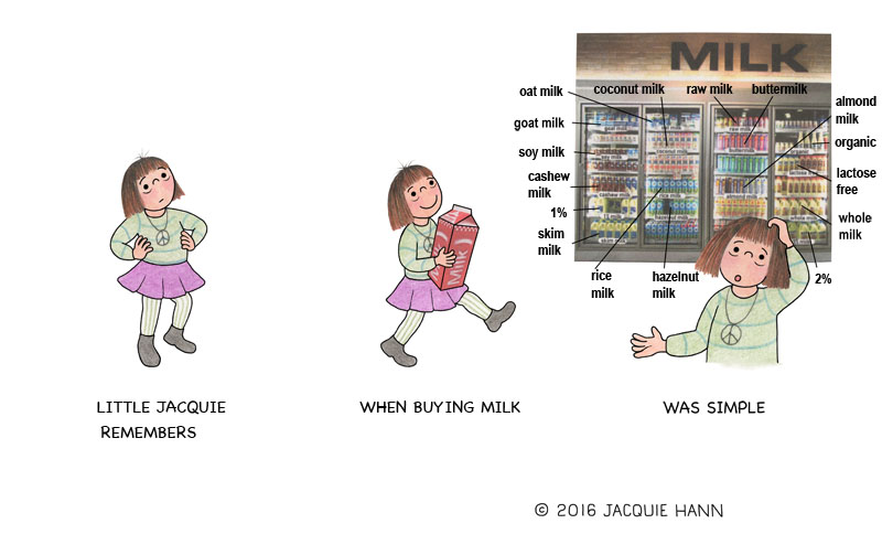 Little Jacquie on Milk by Jacquie Hann