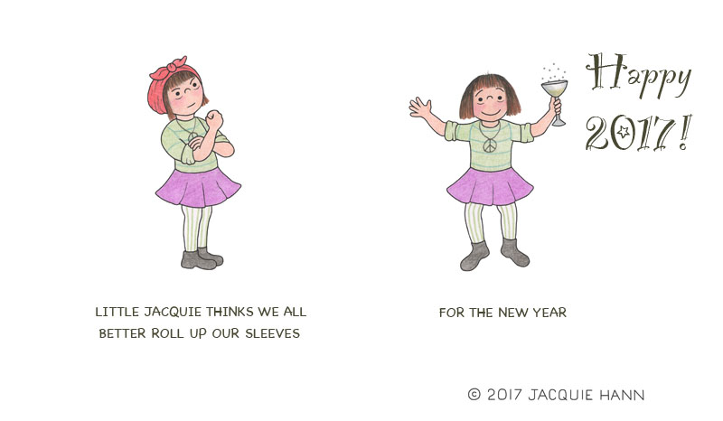 Little Jacquie Happy 2017 by Jacquie Hann