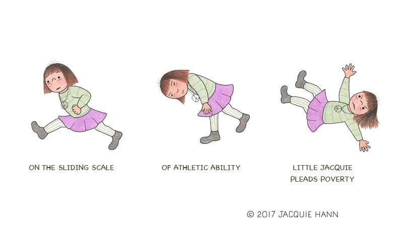 Little Jacquie on Athletic Ability by Jacquie Hann