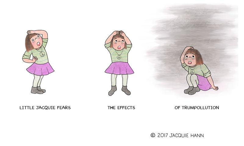 Little Jacquie on Trumpollution by Jacquie Hann