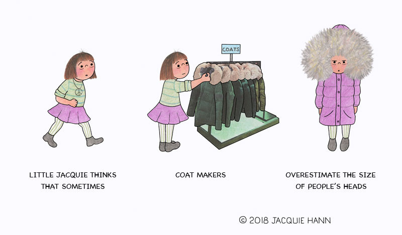 Little Jacquie on Coats by Jacquie Hann