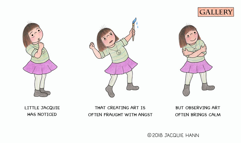 Little Jacquie on Creating/Observing by Jacquie Hann
