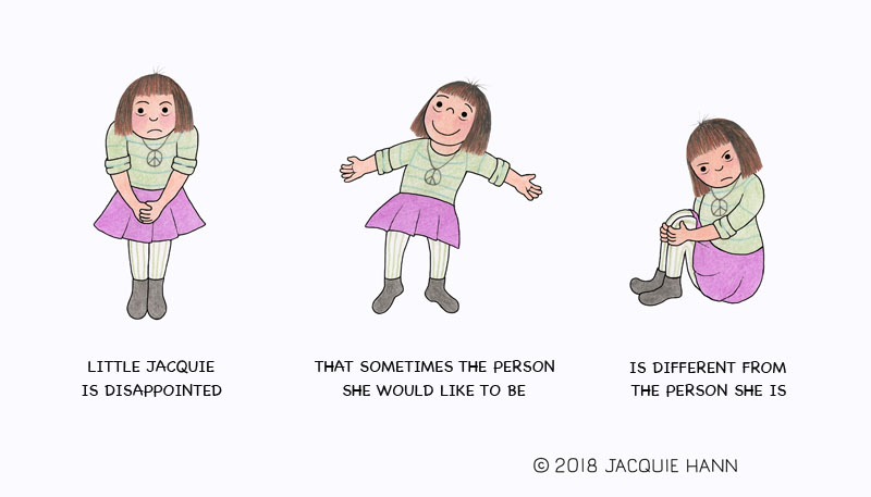 Littl Jacquie on the Person She Is by Jacquie Hann