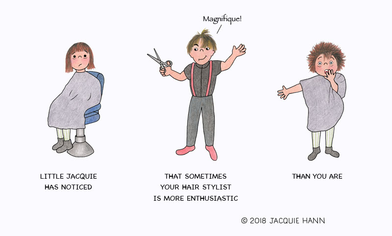 Little Jacquie on Hairstylists by Jacquie Hann
