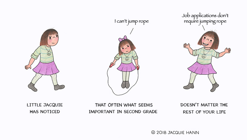 Little Jacquie on Jumping Rope by Jacquie Hann