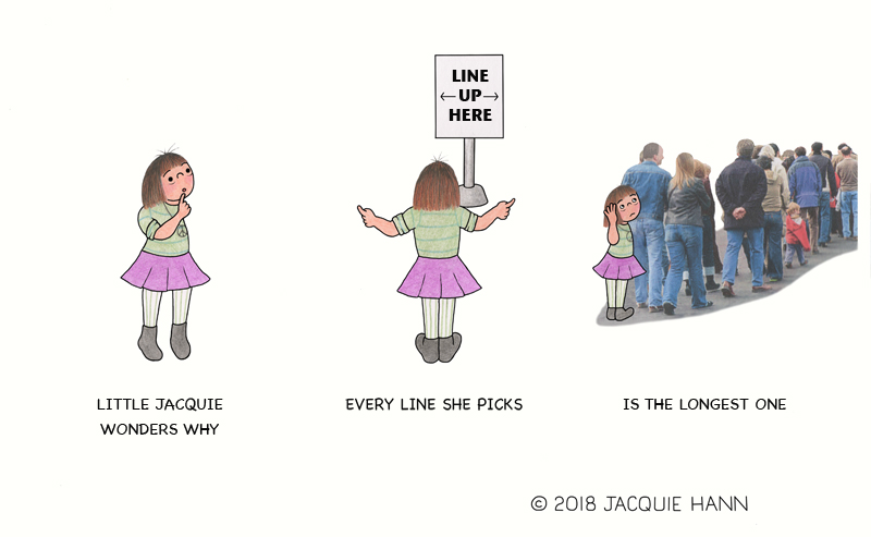 Little Jacquie on Lines by Jacquie Hann