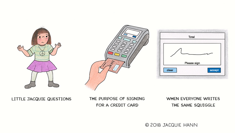 Little Jacquie on Credit Cards by Jacquie Hann