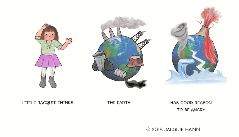 Little Jacqie on the Earth by Jacquie Hann