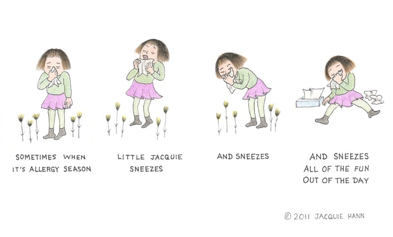 Little Jacquie's allergies by Jacquie Hann