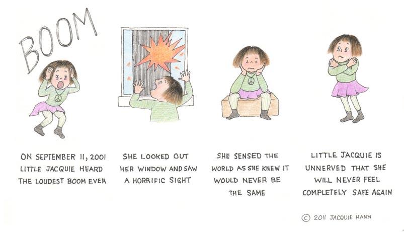 Little Jacquie on 9/11 by Jacquie Hann