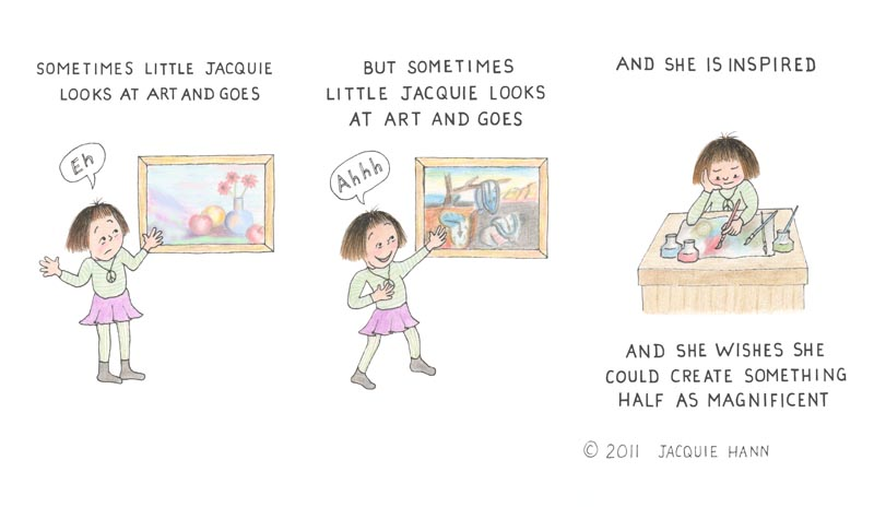 Little Jacquie on Art by Jacquie Hann