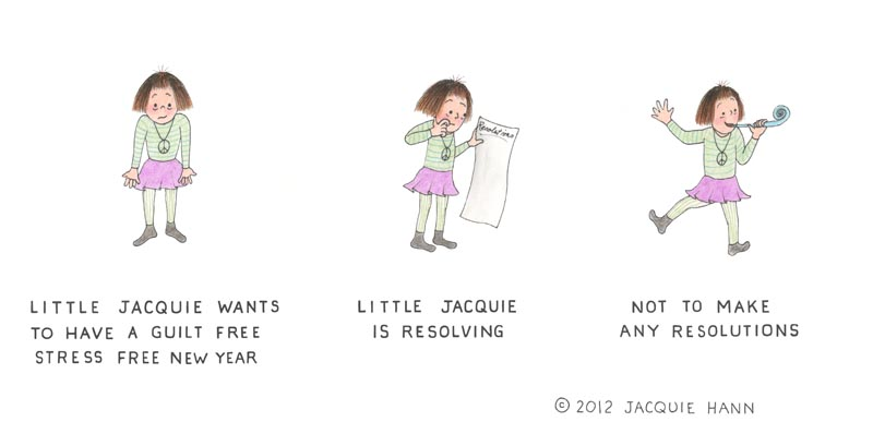 Little Jacquie on the New Year by Jacquie Hann