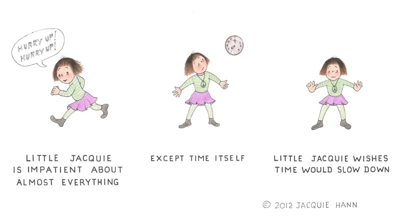 Little Jacquie on Time by Jacquie Hann