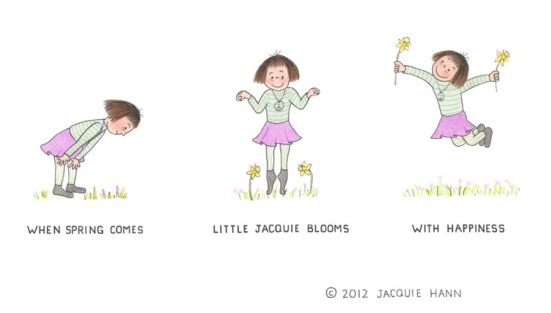 Little Jacquie on Spring by Jacquie Hann
