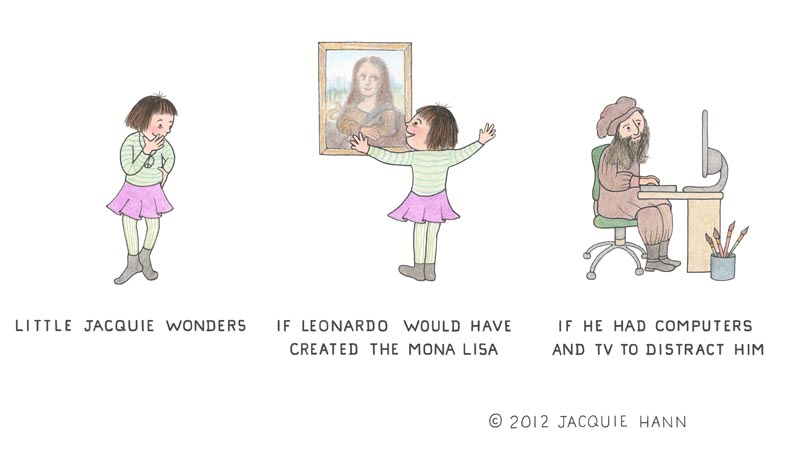 Little Jacquie on the Mona Lisa by Jacquie Hann