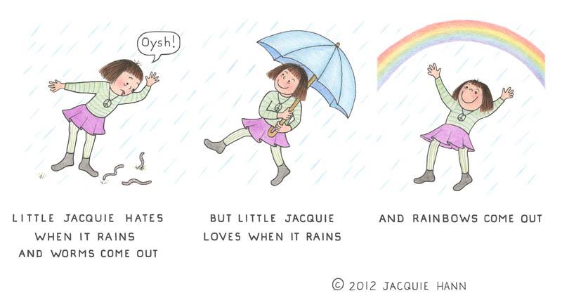 Little Jacquie on Rain