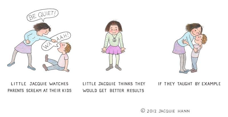 Little Jacquie on Parents by Jacquie Hann