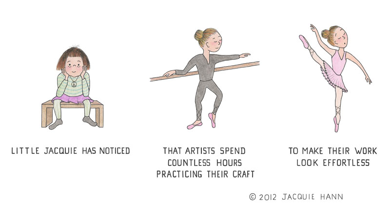 Little Jacquie on Practice by Jacquie Hann