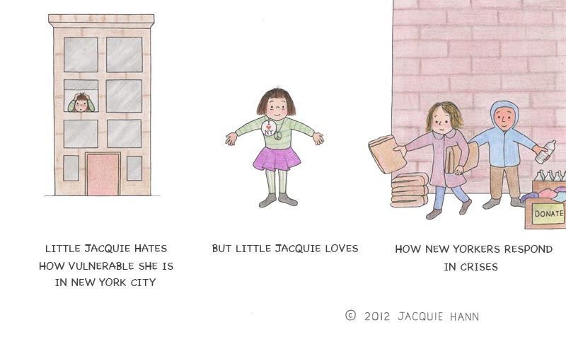 Little Jacquie on New York by Jacquie Hann