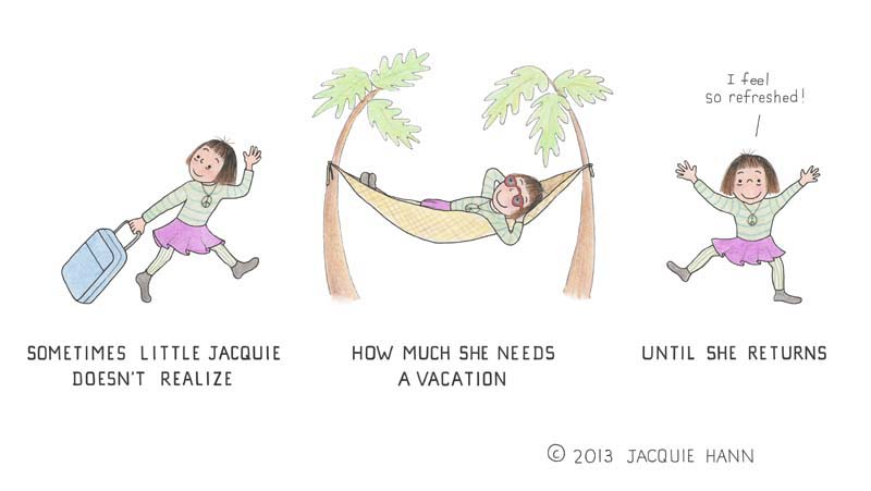 Little Jacquie on Vacation by Jacquie Hann