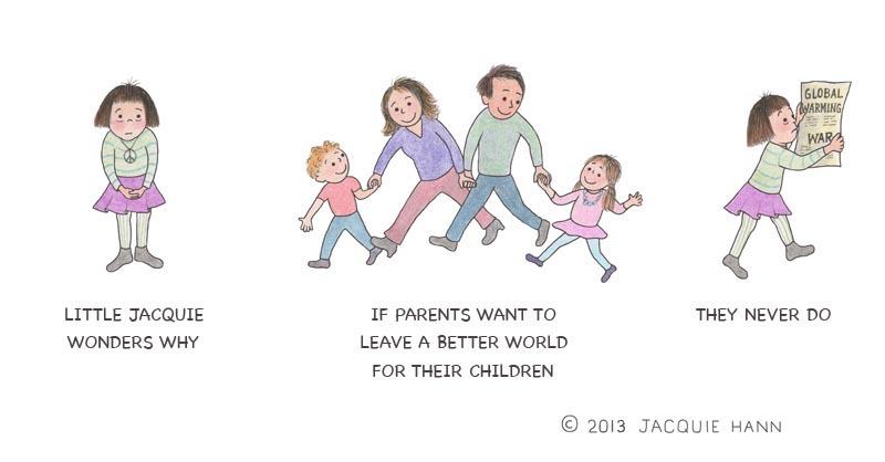 Little Jacquie on Parents by Jacquie Hann
