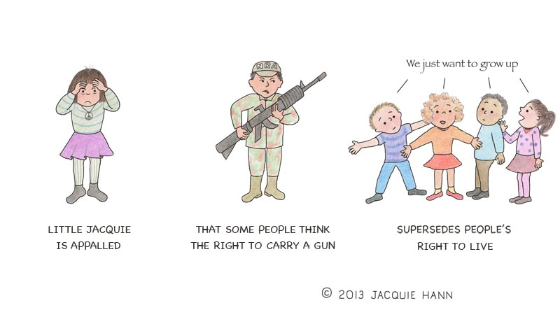 Little Jacquie on Guns by Jacquie Hann