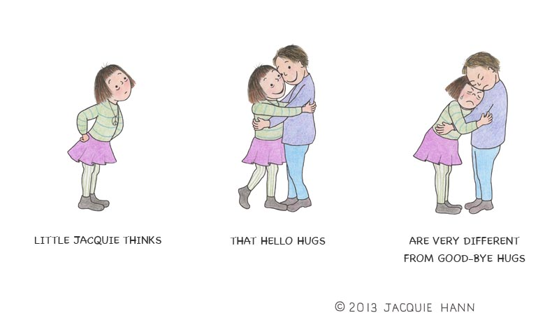 Little Jacquie on Hugs by Jacquie Hann