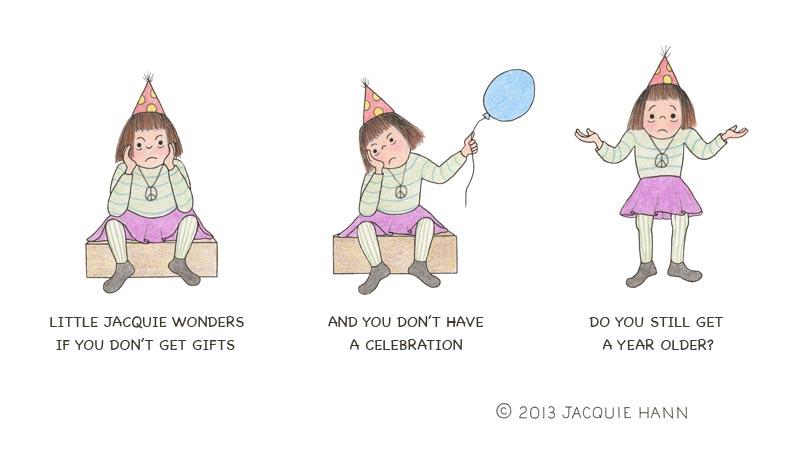 Little Jacquie on Birthdays by Jacquie Hann