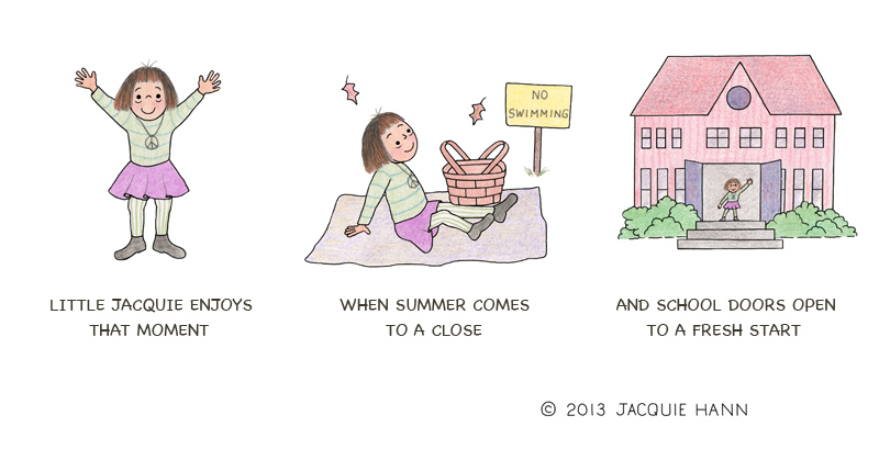 Little Jacquie on the End of Summer by Jacquie Hann
