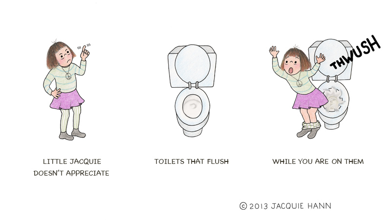 Little Jacquie on Toilets by Jacquie Hann