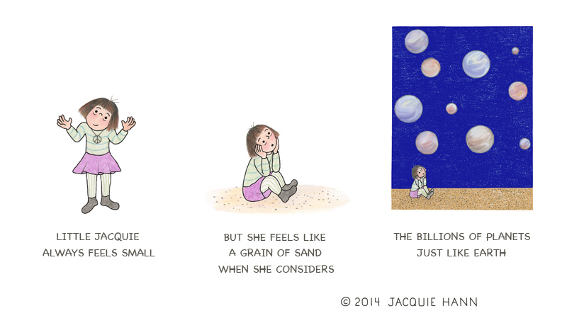 Little Jacquie on Feeling Small by Jacquie Hann