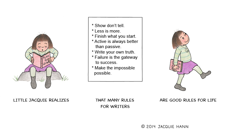 Little Jacquie on Writer's Rules by Jacquie Hann