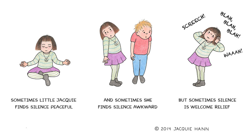 Little Jacquie on Silence by Jacquie Hann