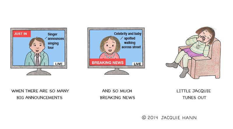 Little Jacquie on Breaking News by Jacquie Hann
