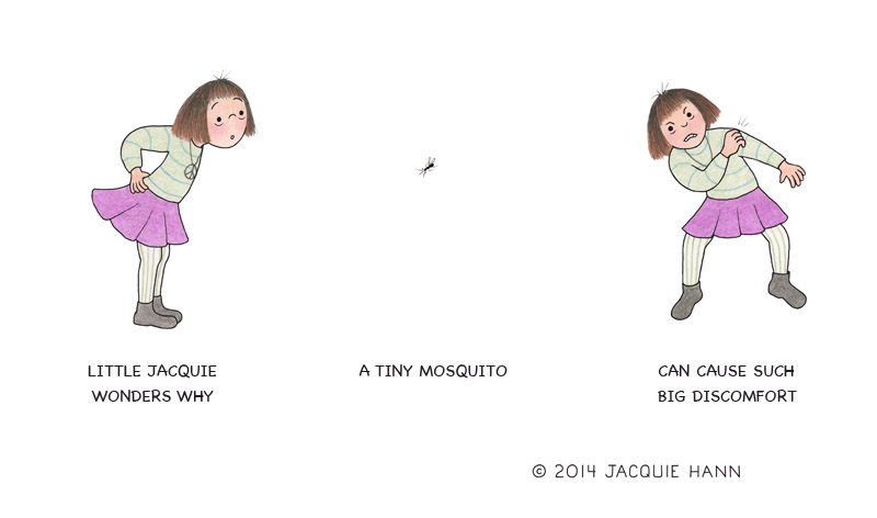 Little Jacquie on Mosquitoes by Jacquie Hann