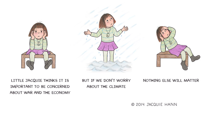 Little Jacquie on the Climate by Jacquie Hann