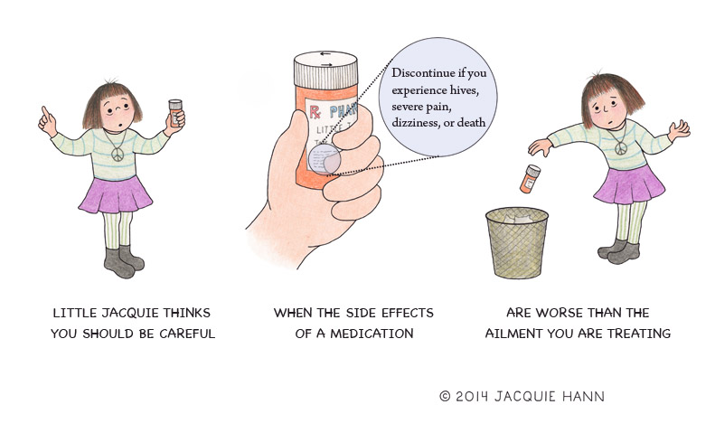 Little Jacquie on Medication by Jacquie Hann