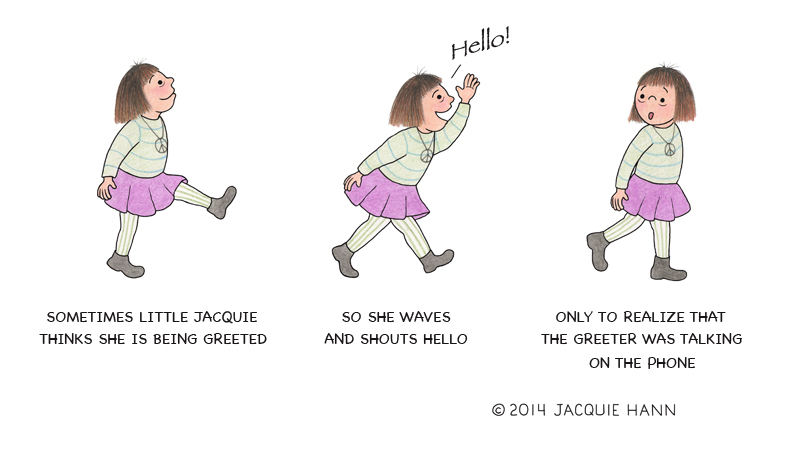 Little Jacquie on Being Greeted by Jacquie Hann