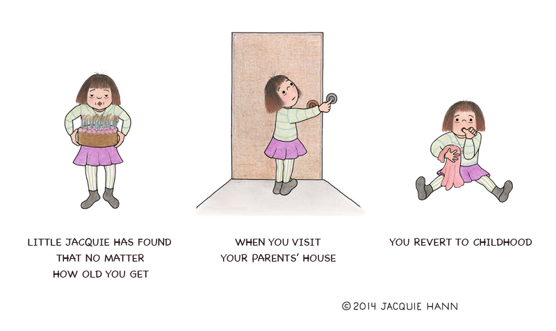 Little Jacquie on Visiting Parents by Jacquie Hann
