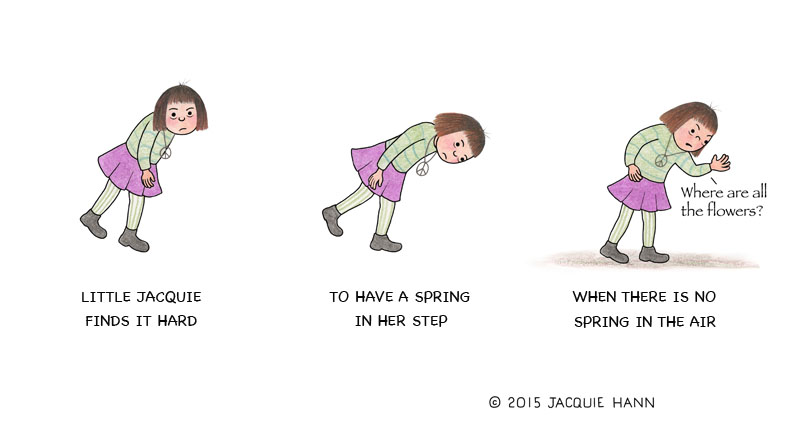 Little Jacquie on (the lack of) Spring by Jacquie Hann