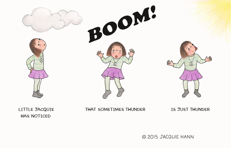 Little Jacquie on Thunder by Jacquie Hann