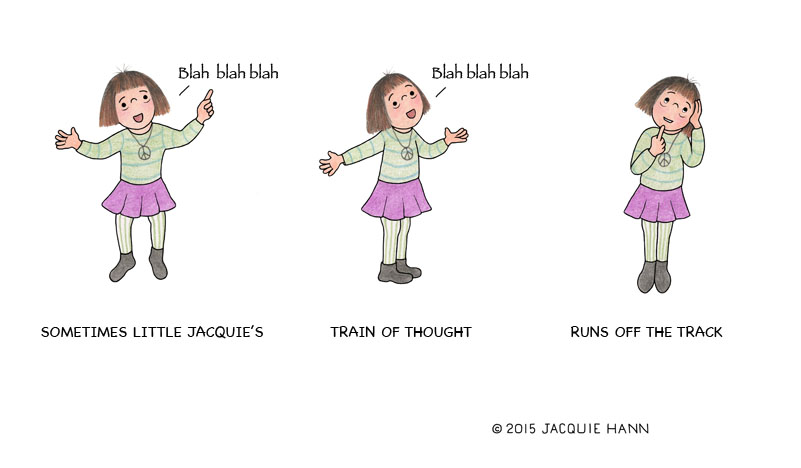 Little Jacquie's Train of Thought by Jacquie Hann