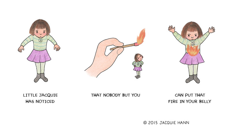 Little Jacquie on Fire by Jacquie Hann